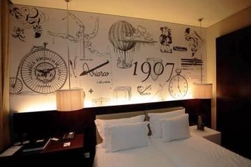 Decoração quarto da Viarco no WR HOTEL S. João da Madeira